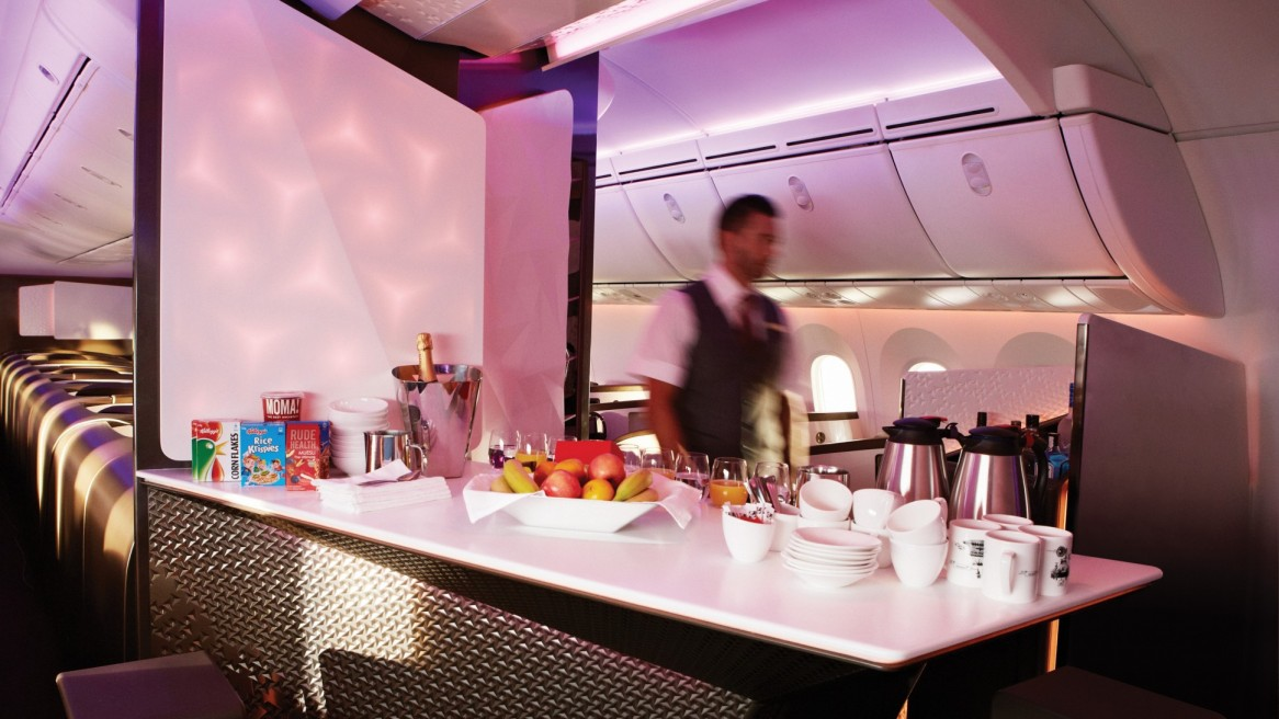 Virgin Atlantic 787 Upper Class interior